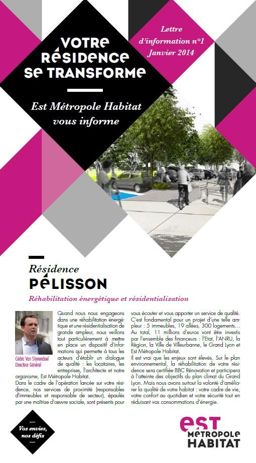 Lettre d'information n°1 Pélisson_Janvier 2014