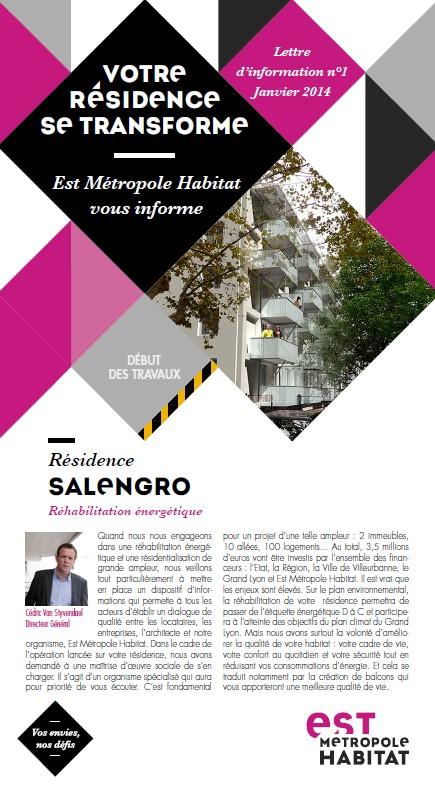 Lettre d'information n°1 Salengro_Janvier 2014