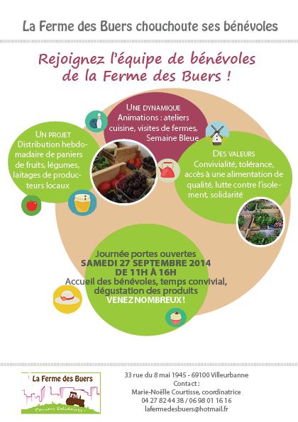 La Ferme des Buers - affiche portes ouvertes 27 sept 2014